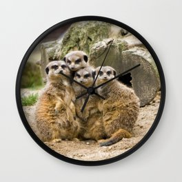 Meerkats Family Wall Clock