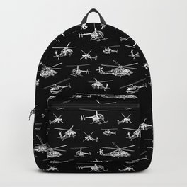 Helicopters on Black Backpack