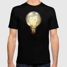 Light Black X-LARGE Mens Fitted Tee