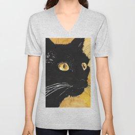 Black cat watercolor Unisex V-Neck