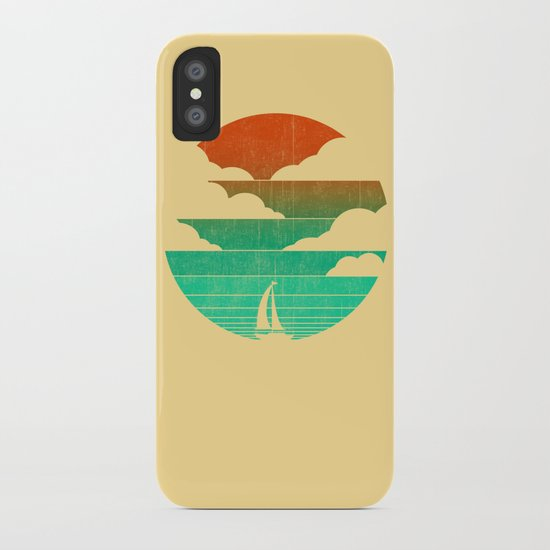 Go West (sail away in my boat) iPhone Case