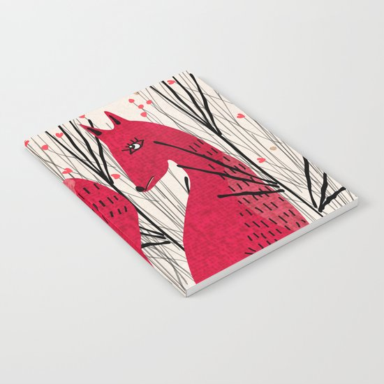 Fox in Shrub Notebook
