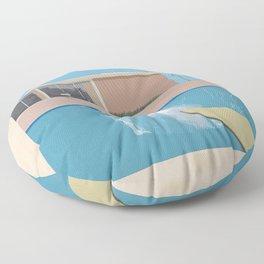 A Bigger Splash - David Hockney, 1967 Floor Pillow