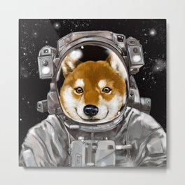 Astronaut Shiba Inu Metal Print