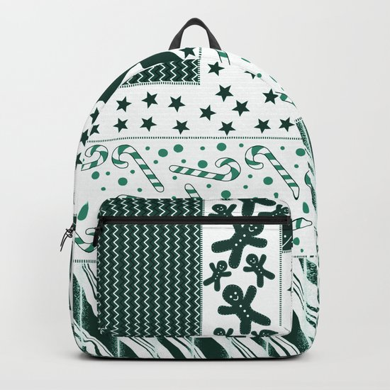 Holiday Green Quilt Design Backpack