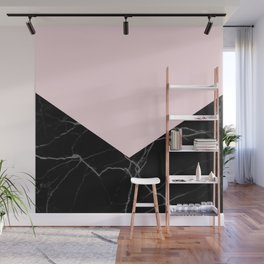 light pink and black marble Wall Mural