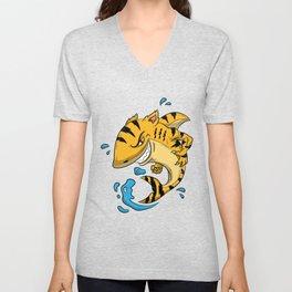 Tiger Shark T Shirt Tigershark Boys Men Kids Predators Gift Idea Unisex V-Neck