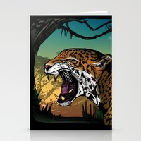 jaguar Stationery Cards featuring Jaguar by Adamzworld