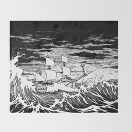 Galleon (line) Throw Blanket
