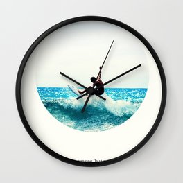 Surf Quote Wall Clock