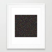 led zeppelin Framed Art Prints featuring LED by Simon C Page