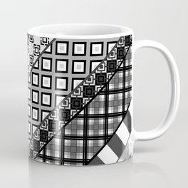 Black / white patchwork Coffee Mug