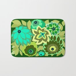 CAMBRIA, ART DECO FLORALS: GREEN SCENE Bath Mat