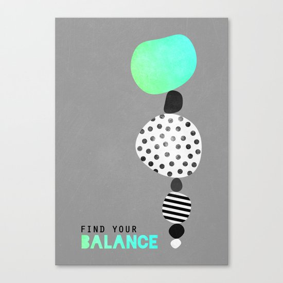 Find Your Balance V2 Canvas Print