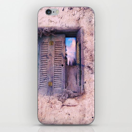 SOUL WINDOW - conceptual composing with old wall and open window iPhone & iPod Skin