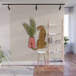 Cheetah & Plant Wall Mural