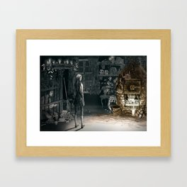 Hansel and Gretel and the Witch Framed Art Print