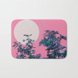 Pink sky and rowan tree Bath Mat