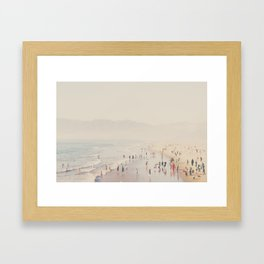 standing on the top of the world ... Framed Art Print