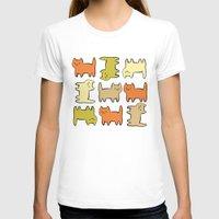 cartoon T-shirts featuring Cartoon Kitties by Irina  Romanovsky