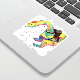 Rainbow Orgo Runners Dinosaur Sticker