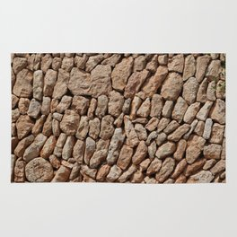Stone wall background Rug