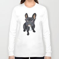 french bulldog Long Sleeve T-shirts featuring French Bulldog by PaperTigress