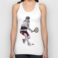 tennis Tank Tops featuring Tennis Agassi by Paul Nelson-Esch Art
