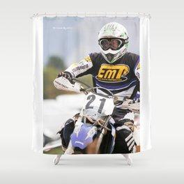 The iron rider Shower Curtain