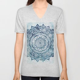 BLUE JEWEL MANDALA Unisex V-Neck