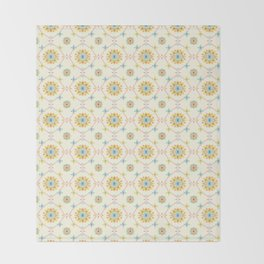 Vintage Peranakan Tiles Throw Blanket