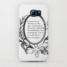 """Jane Austen """"In the Middle"""" iPhone Case"""