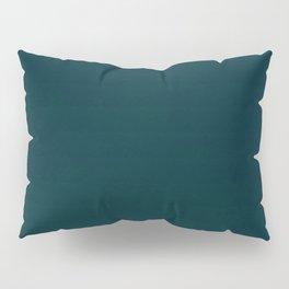 color trend petrol dark blue plain Pillow Sham
