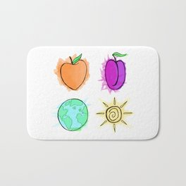 Peach, Plum, Earth, Sun Bath Mat
