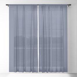 Valspar America Enchanted Navy Blue 4010-8 Solid Color Sheer Curtain