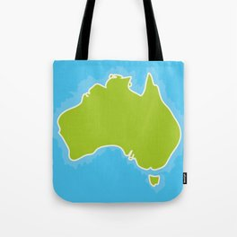 map of Australia Continent and blue Indian Ocean. Vector illustration Tote Bag