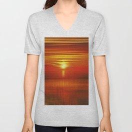 Irish Sea Sunset Unisex V-Neck