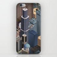 metropolis iPhone & iPod Skins featuring Metropolis by Soak