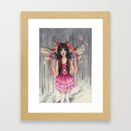 A Deer Little Faerie Framed Art Print