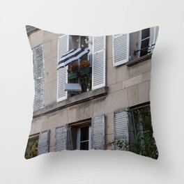 Parisian Awning Throw Pillow