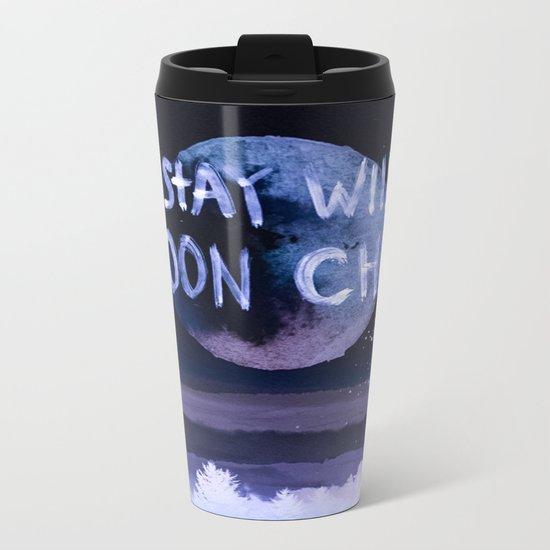 Stay wild moon child (purple) Metal Travel Mug