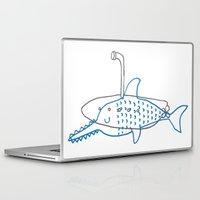 submarine Laptop & iPad Skins featuring Submarine by Ena Jurov