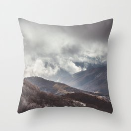 Waiting for the sun - Landscape and Nature Photography Throw Pillow
