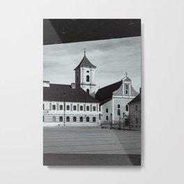 Square at old fortress Osijek, Croatia / Minimal / Lines / B&W Metal Print