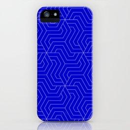 Medium blue - blue - Modern Vector Seamless Pattern iPhone Case
