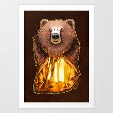 A Golden Autumn Day Art Print