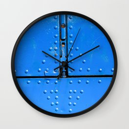 Blue Abstract Of Aviation Wall Clock