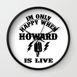 howard is live Wall Clock