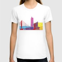 manchester T-shirts featuring Manchester skyline pop by Paulrommer
