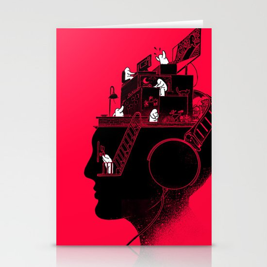 Everyday is a New Soundtrack Stationery Cards
